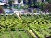 Ботанический сад в Праге. Сад-лабиринт у Тройского дворца