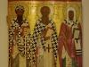Икона Свв. Кирилл и Афанасий Александрийские, Леонтий Ростовский, XV век из Мало-Кириллова монастыря