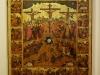 Икона Распятие с евангельскими сценами, XVI век из церкви св. Николы в Пскове