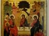 Икона Троица Ветхозаветная, XVII век