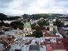Городская ратуша Львов. Вид на Доминиканский костел и башню Корнякта
