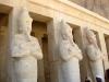 Храм царицы Хатшепсут. Осирические статуи