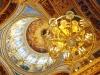 Исаакиевский собор. Люстра на фоне центрального купола
