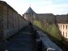Ивангородская крепость. Вид с крепостных стен на Провиантскую башню