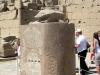 Карнакский храм. Статуя жука-скарабея