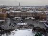 Колоннада Исаакиевского собора. Вид на Исаакиевскую площадь