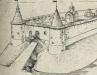 Вид Копорской крепости в XVI веке. Реконструкция А. К. Филиппова.