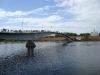Новгородский кремль. Пешеходный мост через Волхов