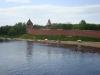 Новгородский кремль. Вид с Пешеходного моста
