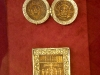 Новгородский музей. Золотая кладовая. Панагия и икона София Премудрость Божия, XIV век