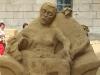 Песчаные скульптуры на Петропавловском пляже