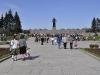 Пискаревское мемориальное кладбище. Центральная аллея