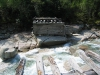 Река Сакукан. Разрушенный мост