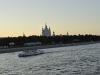 Смольный собор на закате. Вид с моста Петра Великого