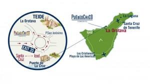 karta proezda k pueblo chiko 300x168 Парк миниатюр Pueblo Chico