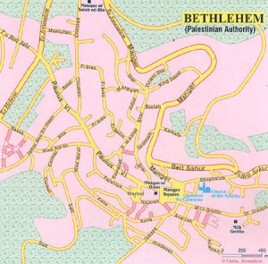 karta vifleema 300x295 Храм Рождества Христова